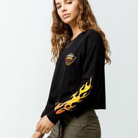 FULL TILT Flame Womens Crop Tee