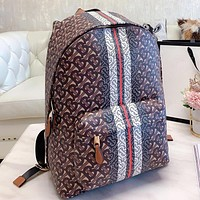 Burberry New fashion more letter print leather book bag backpack bag