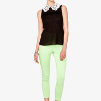 Laser Cut Collar Top   FOREVER 21 - 2040494983