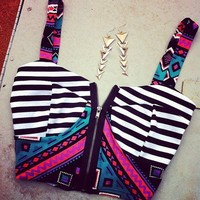 Striped Bow Bandeau