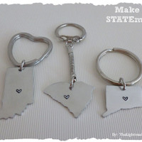 Pick your state Key Chain - Great Gift Idea
