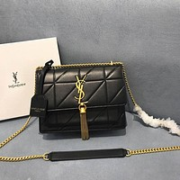 ysl women leather shoulder bag satchel tote bag handbag shopping leather tote crossbody satchel shouder bag 315