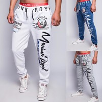 Alphabet Print Casual Pants Outdoors Gym Sportswear [6541432259]
