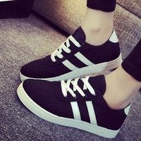 Women's Breathable Casual Canvas Sports Running Shoes Sneakers Skater