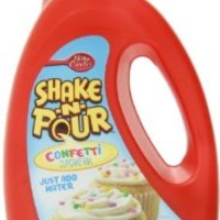 Betty Crocker Shake and Pour Confetti Cupcake Mix, 13.1 Ounce (Pack of 8)