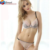 Sexy Women Lace Bra Set Push Up Bra Lingerie Underwear and Panties Set Sexy Unlined Lingerie Intimate Bra Set Intimates