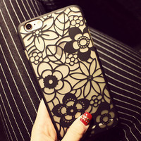 Hollow Out Sexy Floral iPhone 6 6s Plus creative case Samsung Gift-92