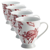 Yuletide Garland Mugs, Set of 4, Coffee Mugs