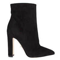 Dolce & Gabbana Black Suede Ankle Booties