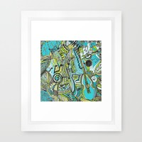 Aqua Lung my Friend Framed Art Print by RokinRonda | Society6