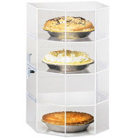 13W x 12.5D x 21.5H Acrylic Pastry Display Case with Hexagonal Front