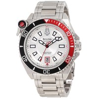 Bulova 98B167 Men's Precisionist Catamount Stainless Steel Silver Dial Dive Watch