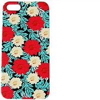 Red & White Floral Pattern Flower Phone Cover for the Apple Iphone 5c by iCandy Products