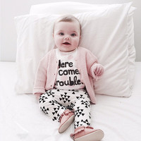Retail 2017 autumn style infant clothes baby girl clothing sets newborn Long sleeve T-shirt +pants 2pcs baby boy clothes