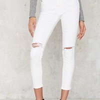 RES Denim Kitty Cropped Skinny Jeans - White