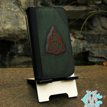 Samsung Galaxy S series and Note Phone Wallet Folio Case -Charmed Book Of Shadows Spell book