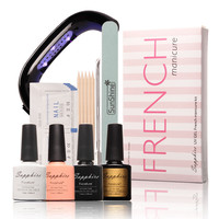 Frenchie - Home Gel French Manicure Kit - Polish and Lamp Included!