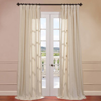 Walmart: Half Price Drapes Lanai Linen Blend Stripe Curtain Single Panel