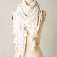 Ankie Square Scarf by Anthropologie in Cream Size: One Size Scarves