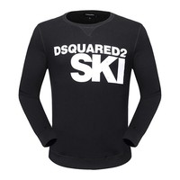 One-nice™ Dsquared2 Women Man Fashion Print Sport Casual Top Sweater Pullover