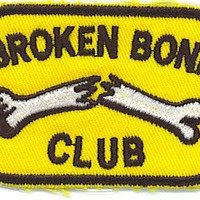 Broken Bone Club Patch Motorcycle Biker Patch Iron/Sew On