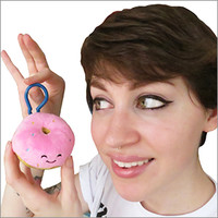 Micro Squishable Pink Donut: An Adorable Fuzzy Plush to Snurfle and Squeeze!
