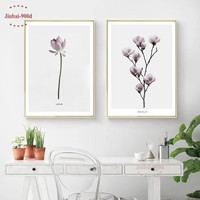 900D Flower Wall Art Canvas Painting Wall Pictures For Living Room Nordic Poster Decoration Pictures Posters And Prints NOR062