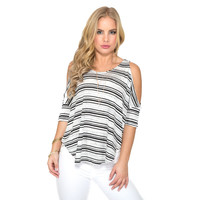 Cold Hearted Stripe Top