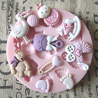 3D Bear Feet BABY Toy Silicone Mold Fondant Molds Sugar Craft Tools Chocolate Mould For Cakes