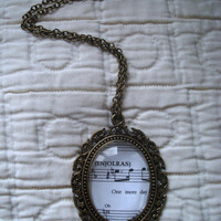 Les Miserables sheet music necklace (One Day More)
