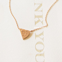 Tiny Pizza Rose Gold Necklace,Gold Plated Necklace, Bar Necklace, Bar Dog Tag, Minimal Jewelry, Gift Ideas, Holiday