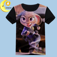 2016 new boys girls clothes children t shirts zootopia baby boy clothing fashion kids clothes cotton tops tees unisex t-shirt