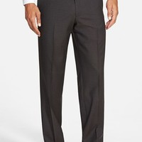JB Britches 'Torino' Flat Front Check Trousers,