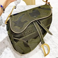 Dior New fashion letter canvas handbag shoulder bag crossbody bag