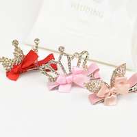 Queen Baby Girl Crown Hair Clips Photo Prop, Birthday Crown, Party Hair Accessories