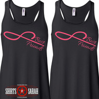 Women's Best Friends Shirt Tanks - Tank Tops Forever Infinity Infinite Symbol Cute Shirts Tops