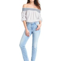 Mid rise real straight jeans | Gap