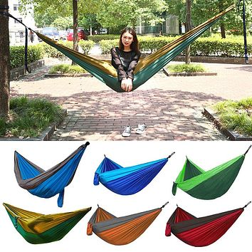 270x140cm Picnic Camp Tent Nylon Camping Hanging Hammock Outdoor Swing Camping Hiking Rest Bed Survival Supplies