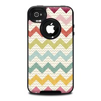 The Vintage Summer Colored Chevron V4 Skin for the iPhone 4-4s OtterBox Commuter Case