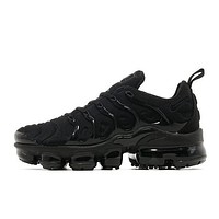 NIKE Air Vapor Max Plus Triple Black Vapormax Air Cushion Running Sneakers Shoes