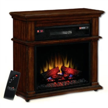 Infared Quartz Rolling Electric Fireplace Space Heater with Remote
