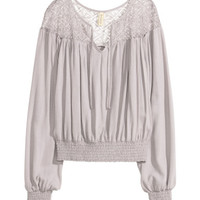 H&M Blouse with Lace Yoke $29.99