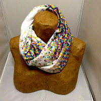 Colorful Knit Scarf - Funfetti Explosion Infinity Scarf