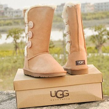 """""""UGG"""" female fashion wool snow boots wool shoes"""