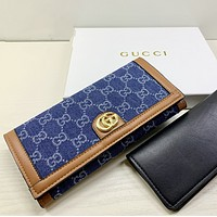 GUCCI Classic Women Leather Print High Quality Wallet Purse