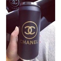 Stainless steel CC gold logo water/Coffee thermos