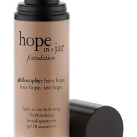 philosophy 'hope in a jar' light-as-air hydrating fluid foundation SPF 20, 1 oz