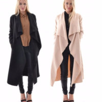 Stylish Waterfall Cape Trench Coat