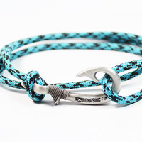Turquoise Camo Fish Hook Bracelet (New)