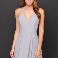 LULUS Exclusive Dream About Me Grey Dress